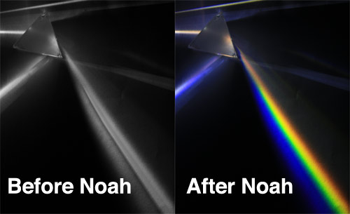 Before and After noah, light dispersion
